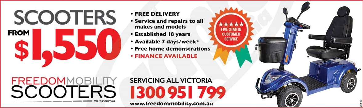 Freedom Mobility Banner Free Delivery